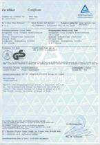Kelitong-Zertifikat Certificate