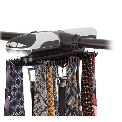 Motorized tie belt rack electric tie rack kelitong supply for Motorized tie racks for closets